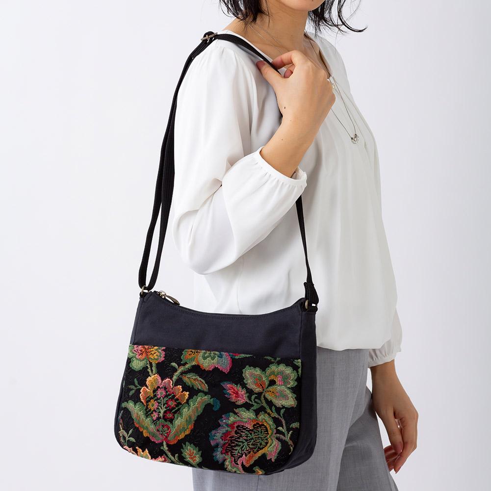 日本製 ゴブラン織り ショルダーバッグ レディース 女性[あす着対応]
