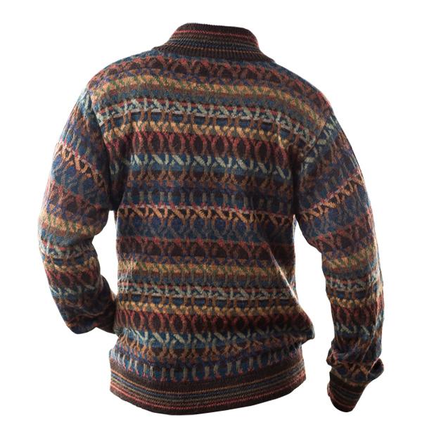 [IFER Knitwear/アイファーニットウェア] アルパカ ジッパー クスコセーター メンズ 男性 彼氏 おしゃれ 誕生日 プレゼント [あす着対応]