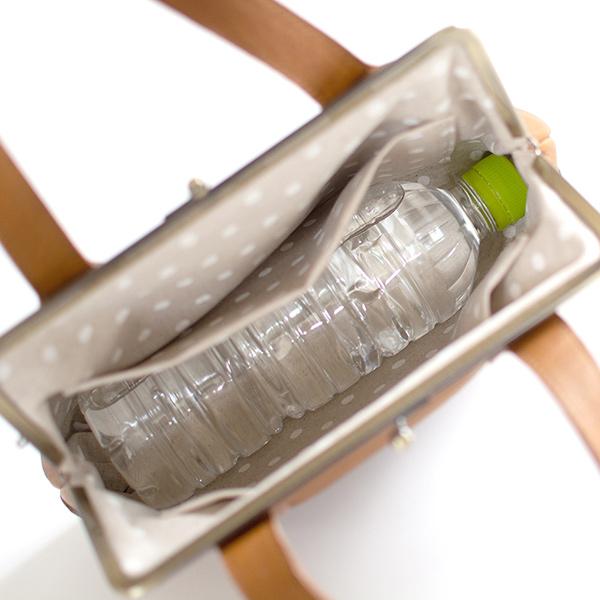 2020秋冬新作 Kanmi./カンミ フカフカ ミニがま口トートバッグ B20-43[かんみ バッグ 本革 レザー かわいい ブランド プレゼント][あす着対応]