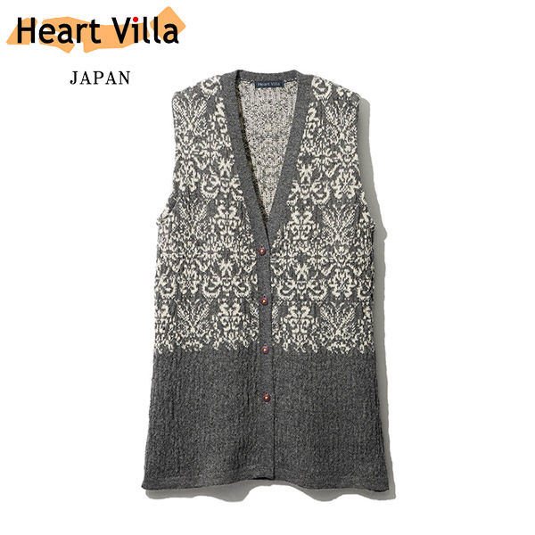 [Heart Villa/ハートヴィラ] アルパカ ジャカード ベスト レディース ニット 日本製 [あす着対応] p20