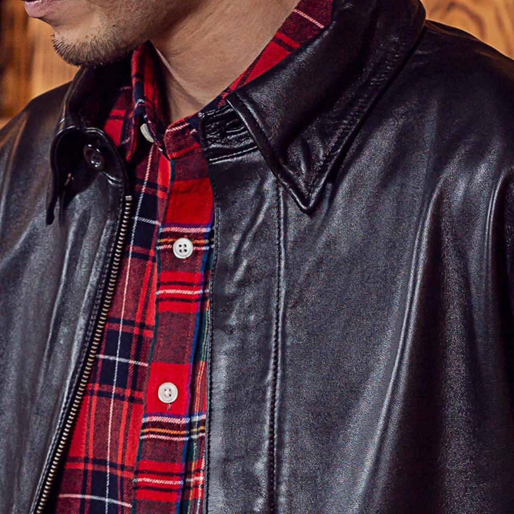 ラムスキン A2 フライト ブルゾン 羊革 ジャケット アウター メンズ [Herringbone Club /ヘリンボーンクラブ][あす着対応] セール対象