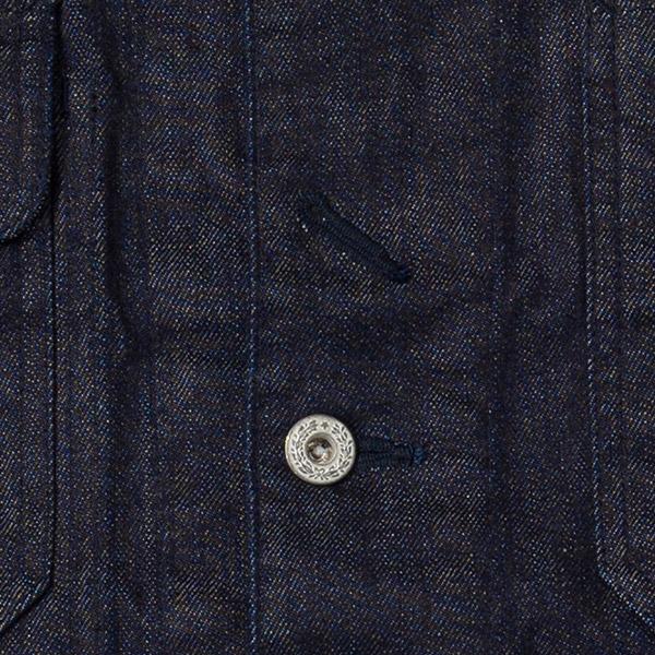 日本製 ストレッチデニム カバーオール ジャケット ワークウエア メンズ 男性 BRITISH GREEN/ブリティッシュグリーン[あす着対応]
