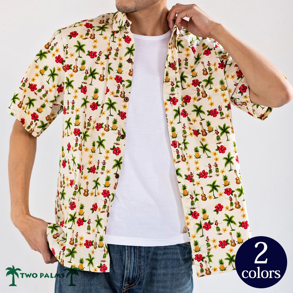 アメリカ製 フラガール アロハシャツ 半袖 シャツ アロハ [TWO PALMS / トゥーパームス] [あす着対応]
