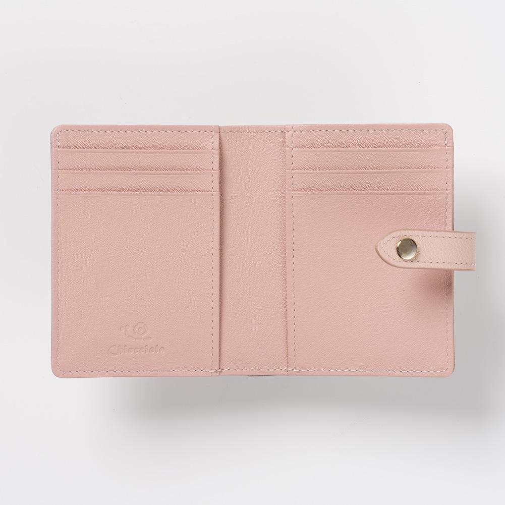 二つ折り財布 コンパクト財布 ミニ財布 財布 バイカラー スマート財布 スリム財布 レディース CHIOCCIOLA / キオッチョラ [名入れ無料][あす着対応]【母の日特集】