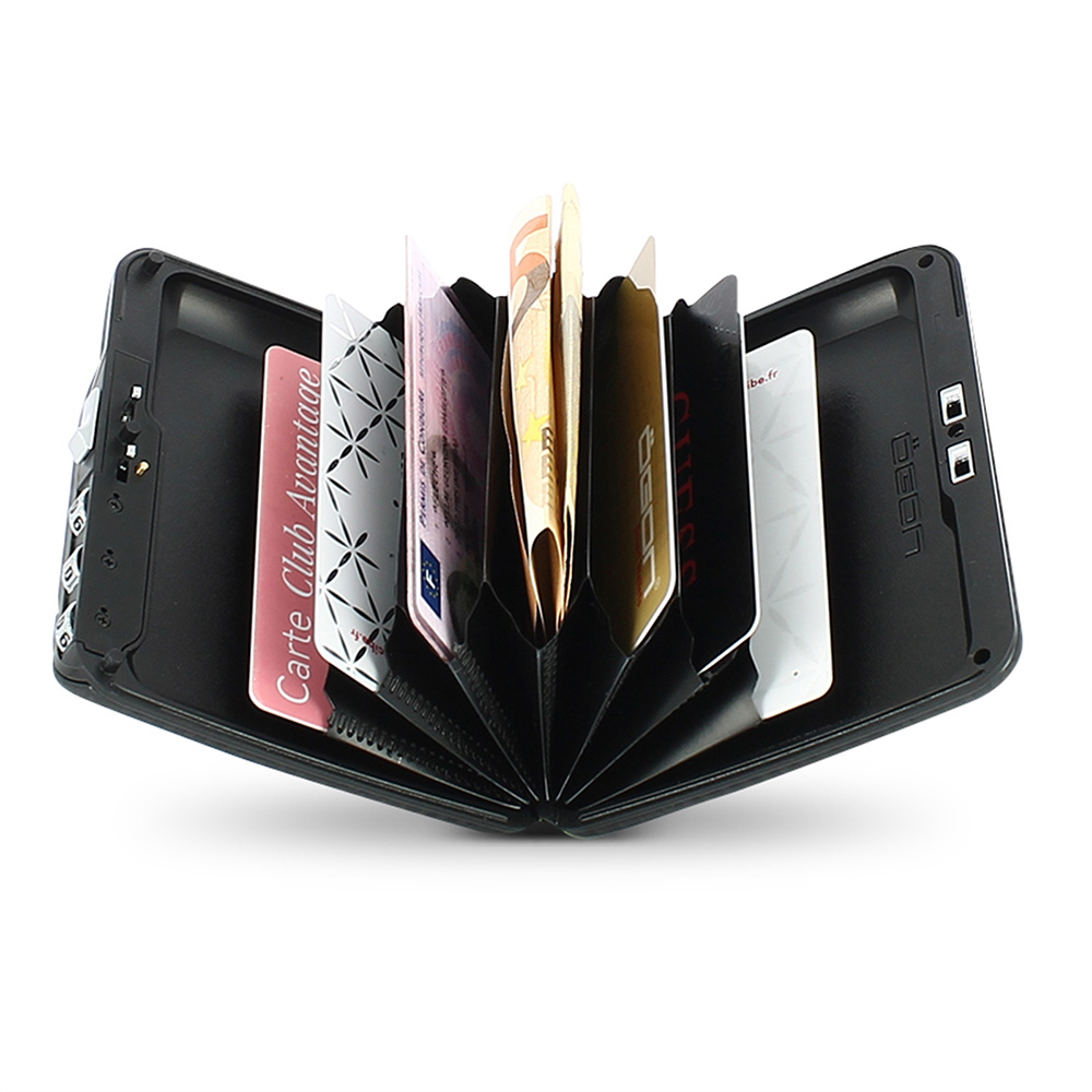 正規日本代理店 OGON カーボンファイバー カーボン コードロック ウォレット 防犯 カードホルダー 蛇腹式 カードケース クレジットカードケース クレジットカード入れ  [オゴン][あす着対応]