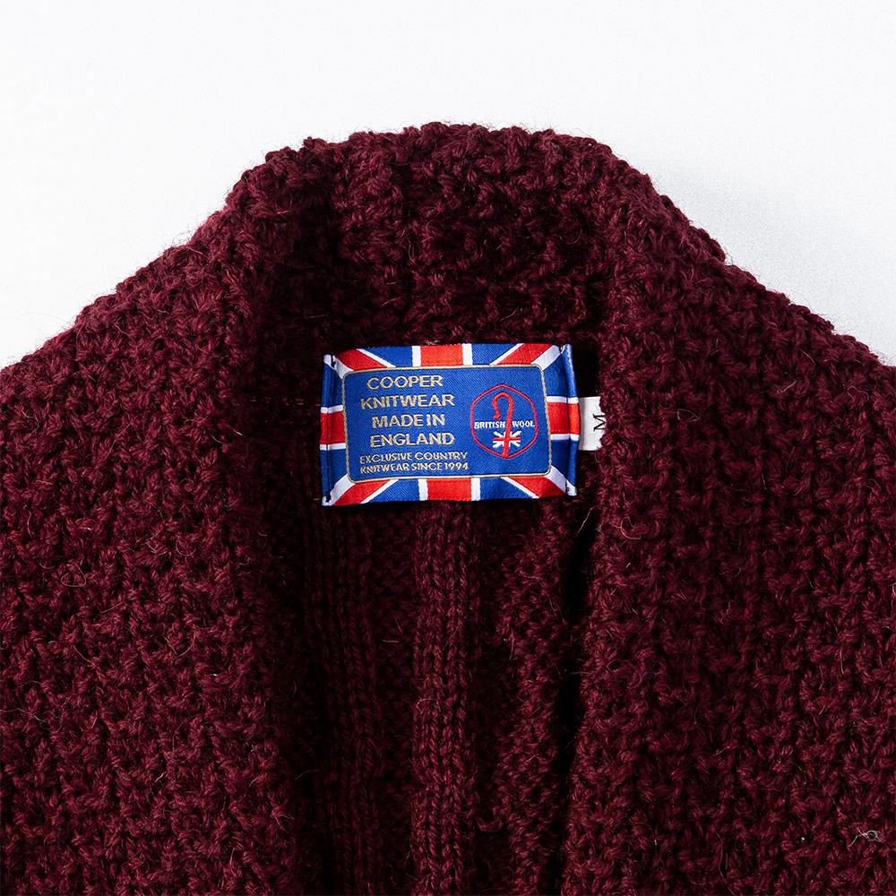 英国製 ロング丈 ショールベスト ケーブル編み レディース[JM COOPER/ジェイエムクーパー][あす着対応]