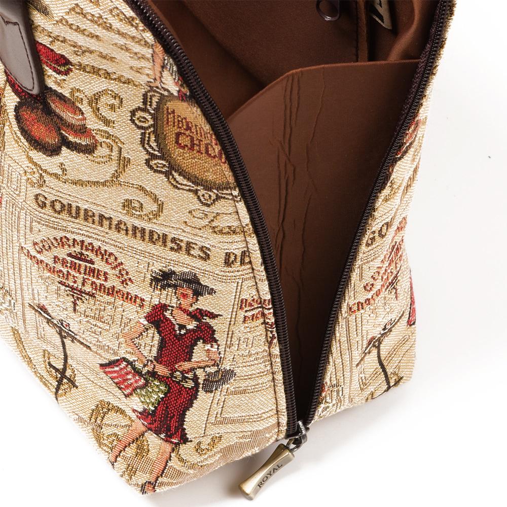 フランス製 ゴブラン織り マカロン柄 ミニボストンバッグ[あす着対応]