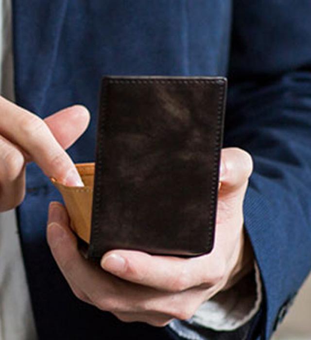 ミュージアムカーフ カードケース付きコインケース[スノビスト/Snobbist][名入れ無料][あす着対応][保証対象]