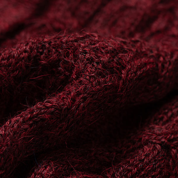 アルパカレディースケーブルショールカーディガン[IFER Knitwear/アイファーニットウェア] [あす着対応]