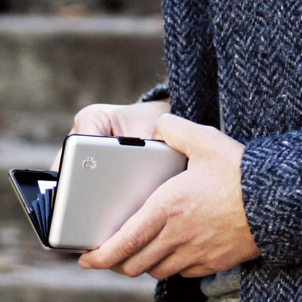 [名入れ無料]OGON フランス製 BIG アルミウォレット アルミニウム カードホルダー 蛇腹式 ジャバラ カードケース クレジットカード入れ スキミング防止 BIG STOCKHOLM WALLET[あす着対応]