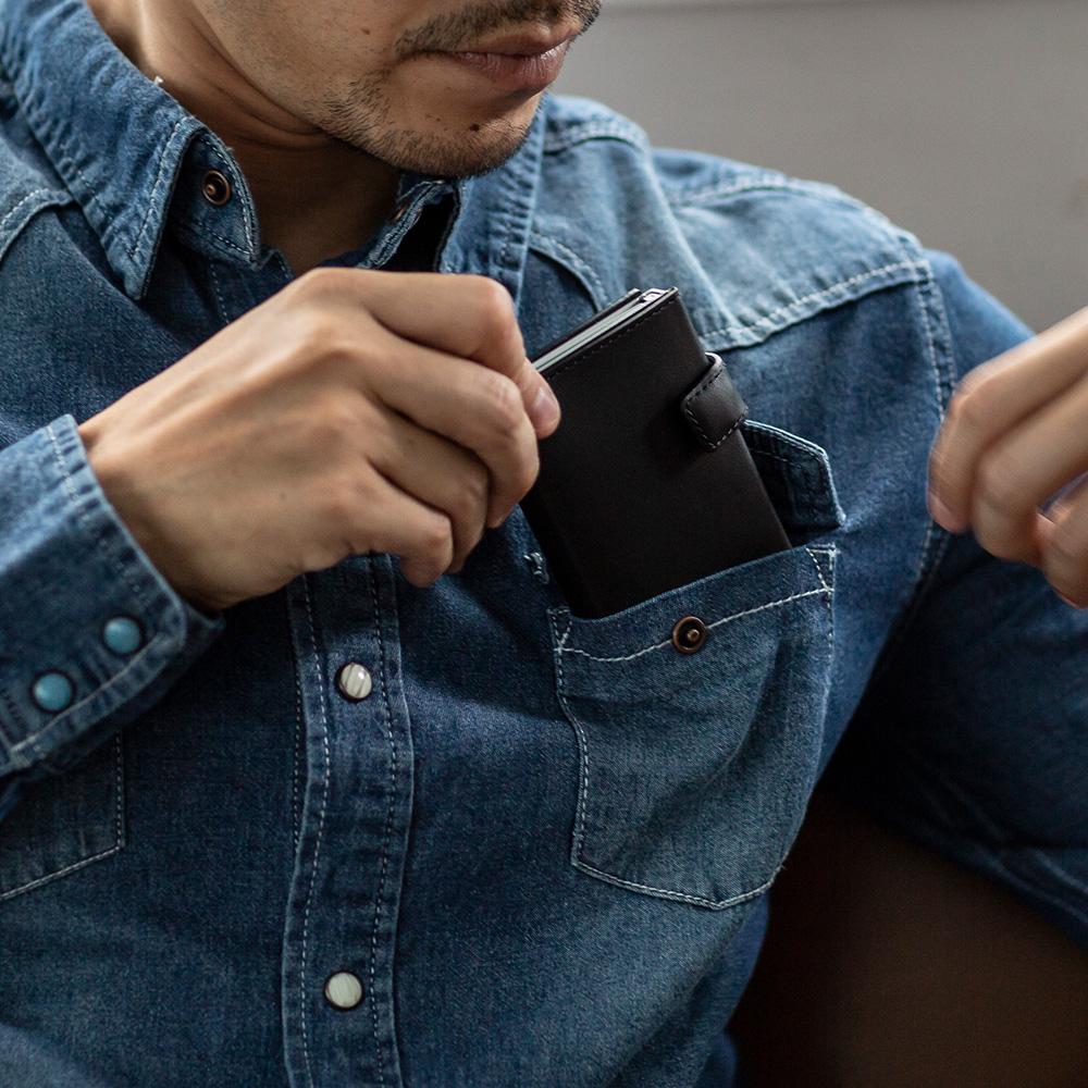 OGON フランス製 スライド式 ウォレット  クレジットカードケース カード入れ カードケース スキミング防止 オゴン[あす着対応]
