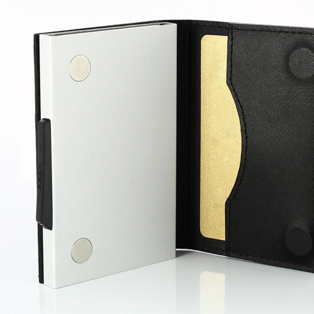 OGON フランス製 スライド式 ウォレット  カーボンレザー ラグジュアリーレザー クレジットカードケース カード入れ カードケース スキミング防止 オゴン[あす着対応]
