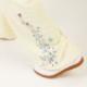 【SALE】≪牛革製≫雲(ユン)シューズ/ホワイト(巾着付き)