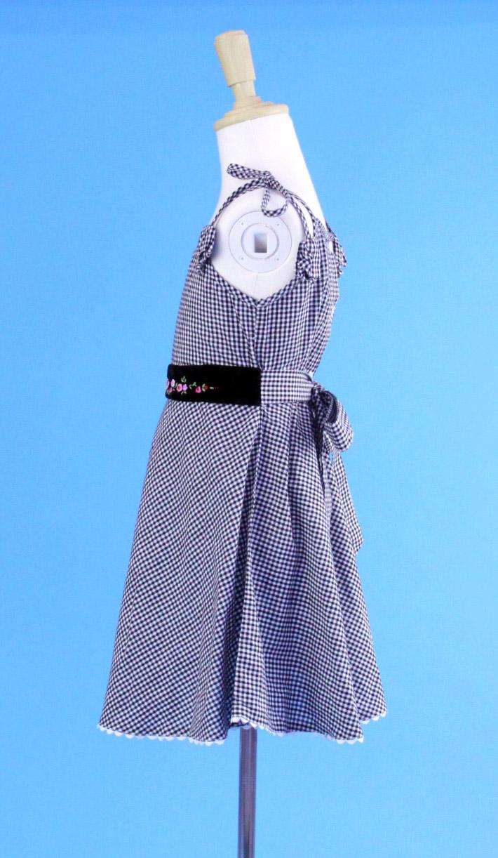 【SALE】 在庫処分 激安 ベトナム子供服ししゅう☆レディ・キャミソールワンピース☆