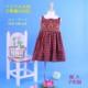 【SALE】 在庫処分 激安 輸入子供服 ベトナム子供服 ししゅう☆えり付きAラインワンピース☆