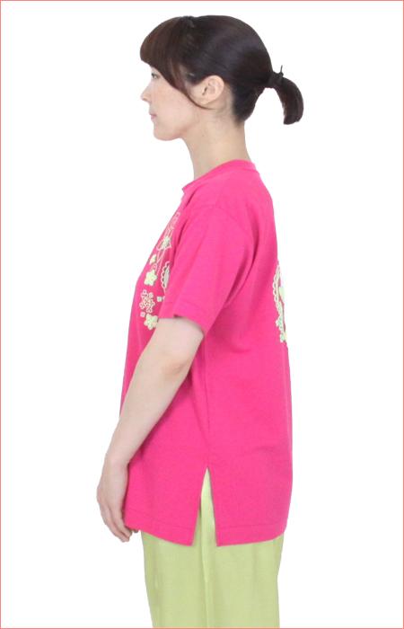 【SALE】【COOLはなパンダ】 太極拳 Tシャツ ハニカムメッシュ ホットピンク 日本製