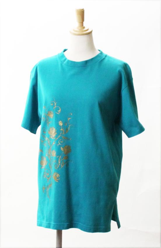 【SALE】【蓮唐草(ロータス)】 太極拳 Tシャツスリット入り ブラック