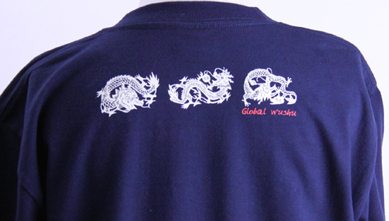 太極拳Tシャツ『騰龍(テンロン)』スリット入りカラー:ネイビー