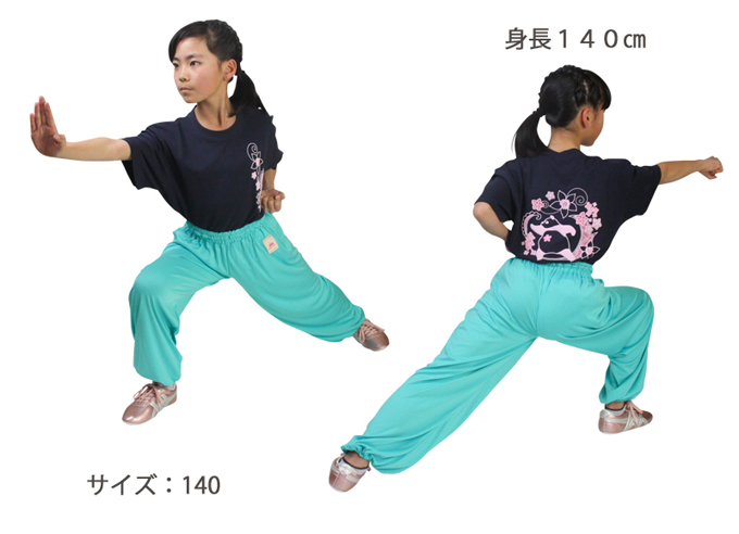 【SALE】タイチーリズム太極拳パンツ全4色ジュニアサイズから大人サイズまで