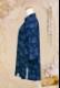 【SALE】『ローズ』/ネイビー/ファスナー式チャイナカラー/七分袖