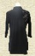 【SALE】新商品 太極拳 ウェア 太極拳 服 【結(ゆい)】 七分袖 ブラック ファスナー式チャイナカラー