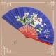 【SALE】高級牡丹(ボタン)単扇子全長35cm竹製袋付き