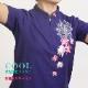 【華鏡(カキョウ)/刺繍ピンク】 四分袖 刺繍チャイナカラー ファスナー式