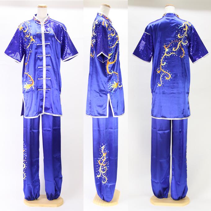 【SALE】【SH-34】グローバルウーシュウの刺繍表演服太極拳長拳オーダーメイドスタンダードシルレッチ