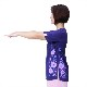 サマーセール 【新商品】ピオニー太極拳Tシャツ/四分袖/ネイビー/メッシュ素材で涼しい/スリット入り