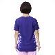 【SALE】【ピオニー】 太極拳Tシャツ 四分袖 ネイビー メッシュ素材で涼しい スリット入り