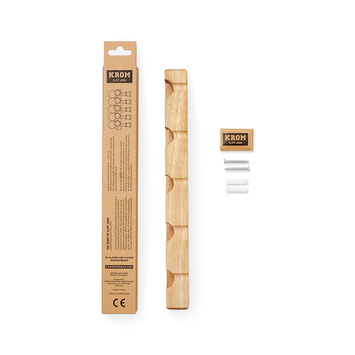 KROM けん玉ラック -CLIFF JOHN 2.0- Rubber Wood(ラバーウッド)製