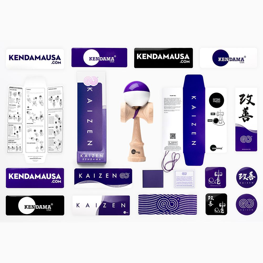 KENDAMA USA - Kaizen SHIFT - Half Split - Purple and White