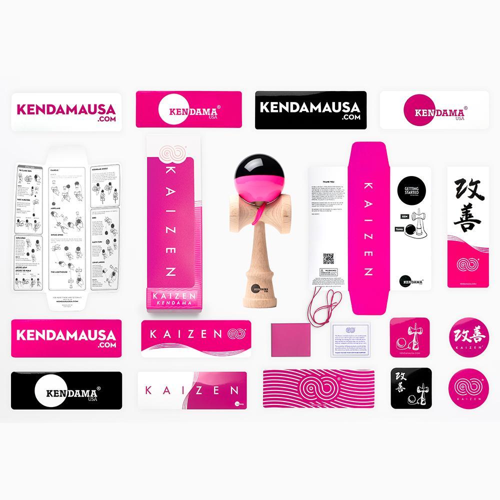 KENDAMA USA - Kaizen SHIFT - Half Split - Pink and Black