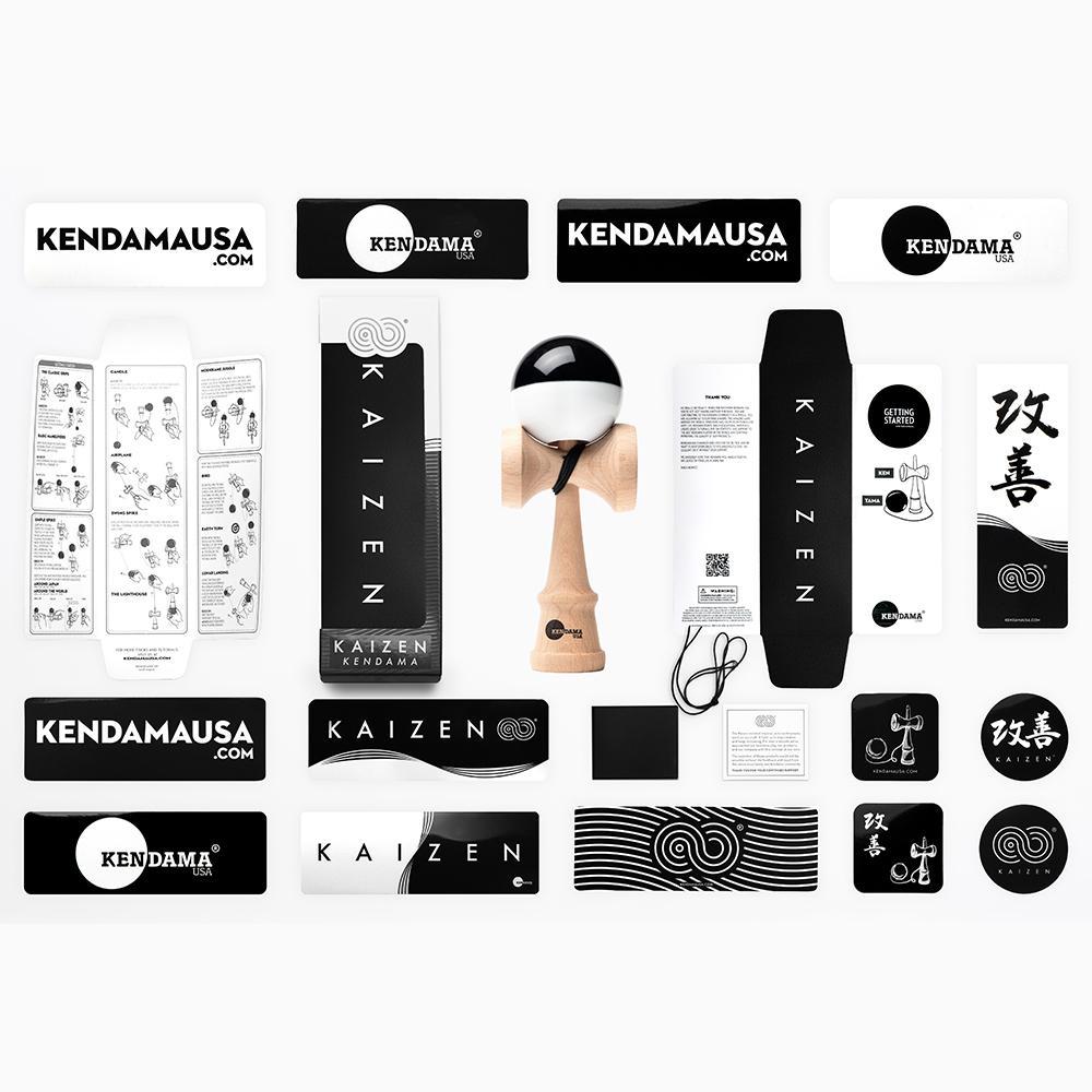 KENDAMA USA - Kaizen SHIFT - Half Split - Black and White