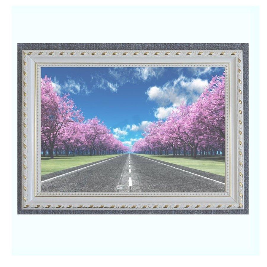 アートパネル 桜並木 インテリア 絵画 壁掛け 絵 POP 額入り 送料無料