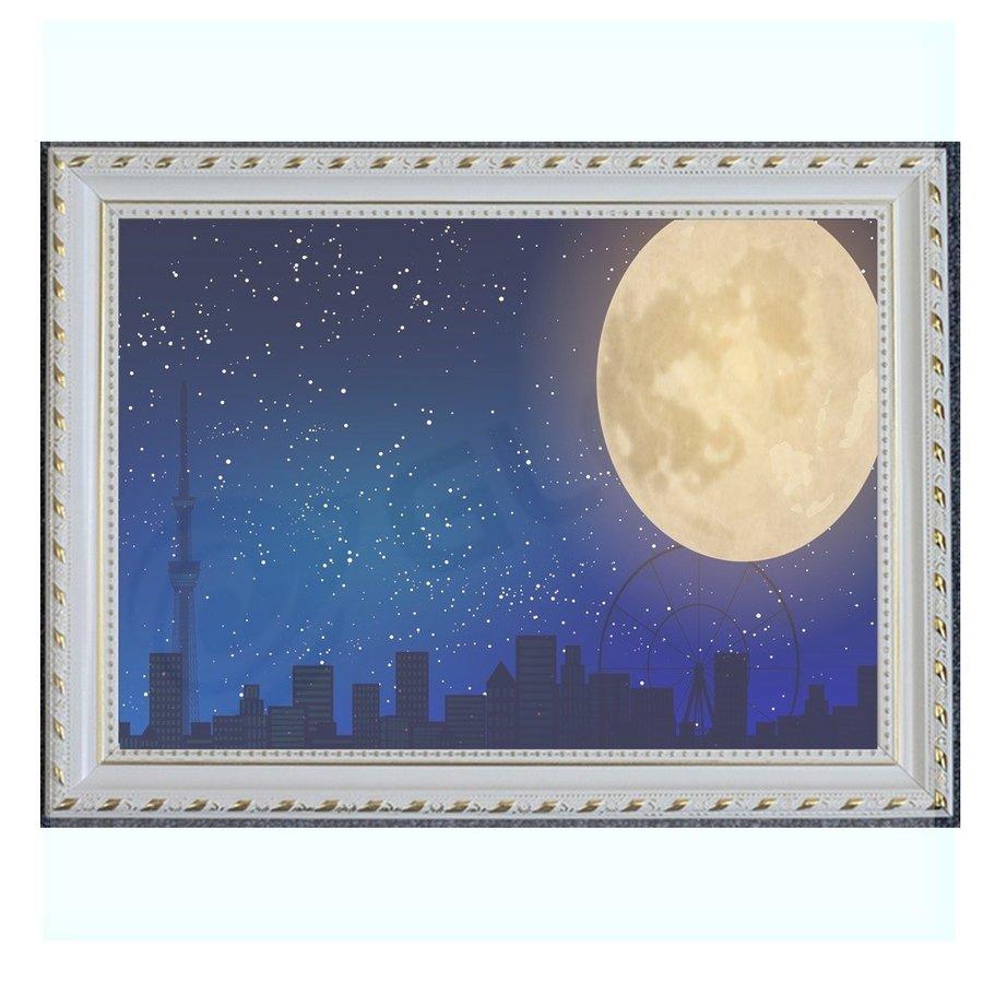 アートパネル 月 インテリア 絵画 壁掛け 絵 POP 額入り moon 送料無料