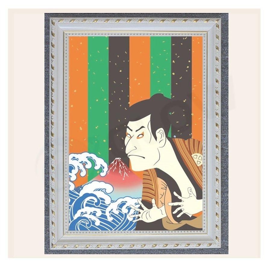 アートパネル 歌舞伎 インテリア 絵画 壁掛け 絵 和風 額入り 送料無料