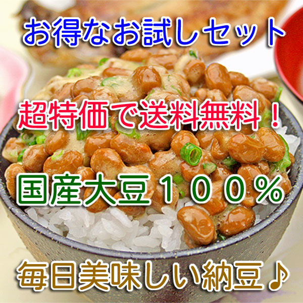 【送料無料】お試しセット・その2 (毎食納豆・大粒×12個)