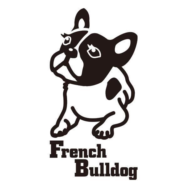 犬ステッカー フレンチブルドッグ LLサイズ ハッピードッグステッカー
