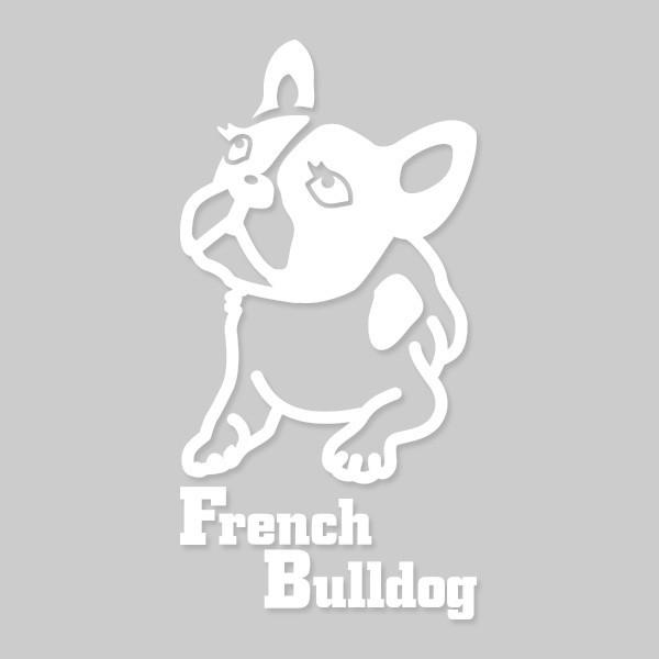 犬ステッカー フレンチブルドッグ Mサイズ ハッピードッグステッカー
