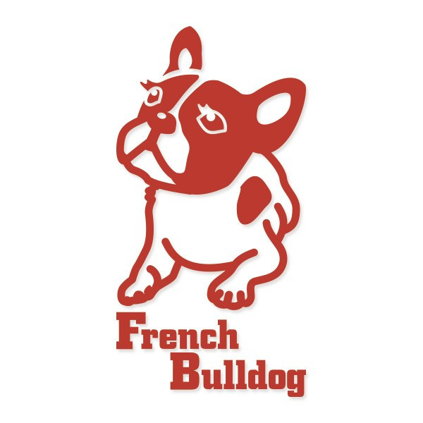 犬ステッカー フレンチブルドッグ Sサイズ ハッピードッグステッカー