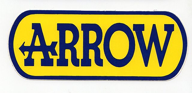 【ARROW ステッカー】ARROW (アロー) L サイズ SP-16