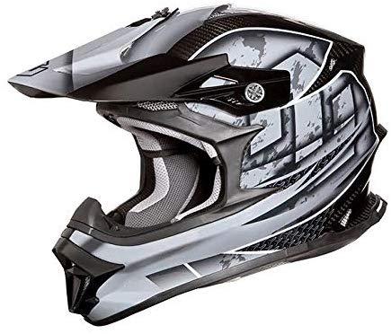 ZEALOT ジーロット godblinc ゴッドブリンク オフロードヘルメット MadJumper2 マッドジャンパー2 CARBON HYBRID GRAPHIC GRAY MJC0012