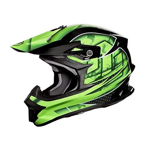 ZEALOT ジーロット godblinc ゴッドブリンク オフロードヘルメット MadJumper2 マッドジャンパー2 CARBON HYBRID GRAPHIC GREEN MJC0015