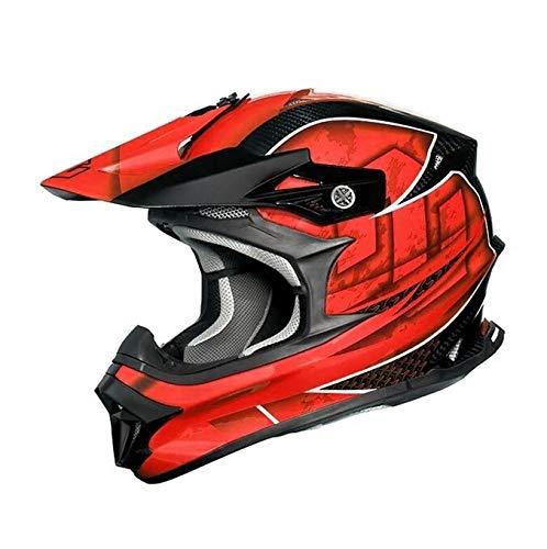 ZEALOT ジーロット godblinc ゴッドブリンク オフロードヘルメット MadJumper2 マッドジャンパー2 CARBON HYBRID GRAPHIC RED MJC0016