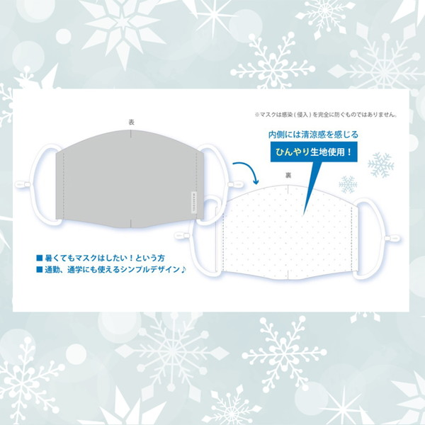 ひんやりマスク MASSCOOL+ マスクールプラス 通勤 通学 洗えるマスク ゴム調節可 接触冷感