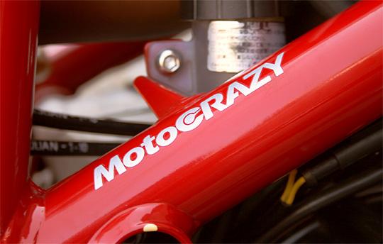 【MotoCRAZY ステッカー】MotoCRAZY SSサイズ 転写 2枚入り ホワイト・シルバー