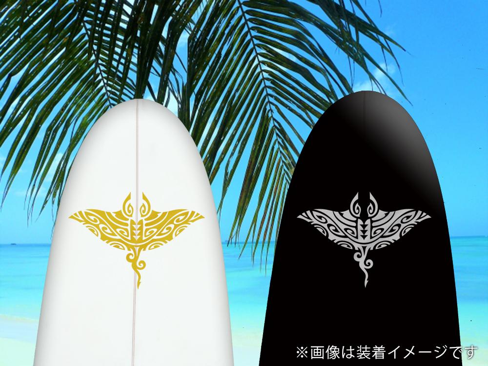 【ハワイアンマンタステッカー】古典トライバルマンタ 高さ20cm IL-09