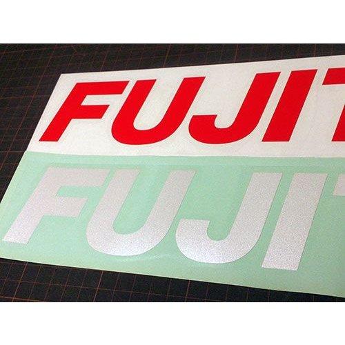 【フジツボ ステッカー】  FUJITSUBO L サイズ 抜き文字タイプ レッド U-68 メタリックホワイト U-69