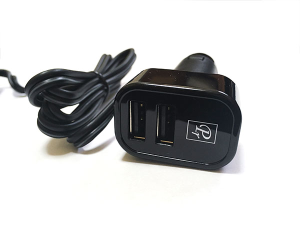 自動車用 シガーソケット USB 2ポート 3連ソケット Max出力3.1A 12/24V車対応 DL-45